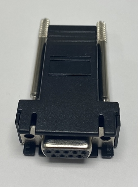 Serial RJ45/DB9F - Modular Adaptor - Black